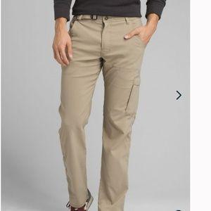 Prana Khaki Stretch Zion Hiking Pants